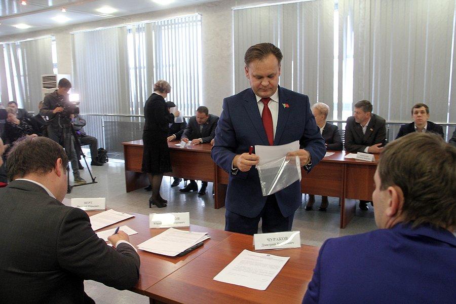 Фоторепортаж с избрания главы города