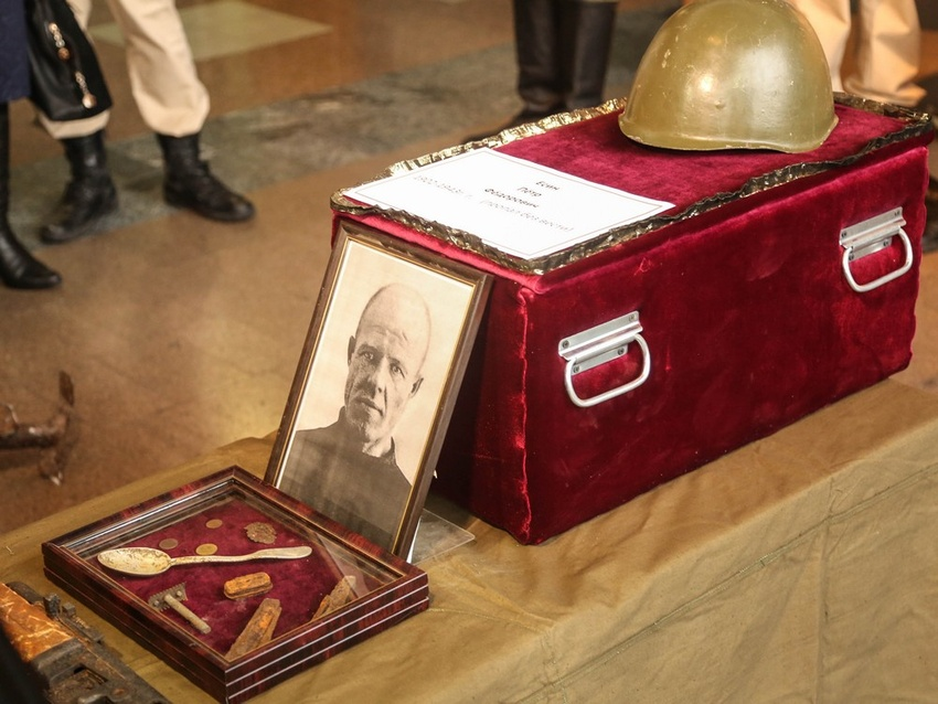 ВоВладимирскую область передали останки фронтовика, погибшего подБелгородом