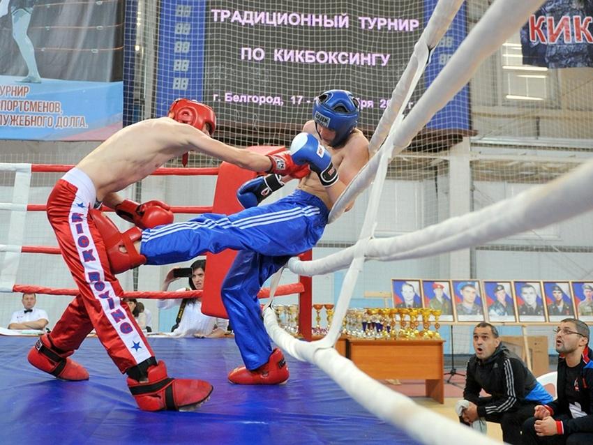 Белгородские кикбоксеры выиграли матчевую встречу у команды Санкт-Петербурга