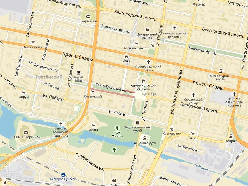 23и31декабря вцентре Белгорода ограничат движение транспорта